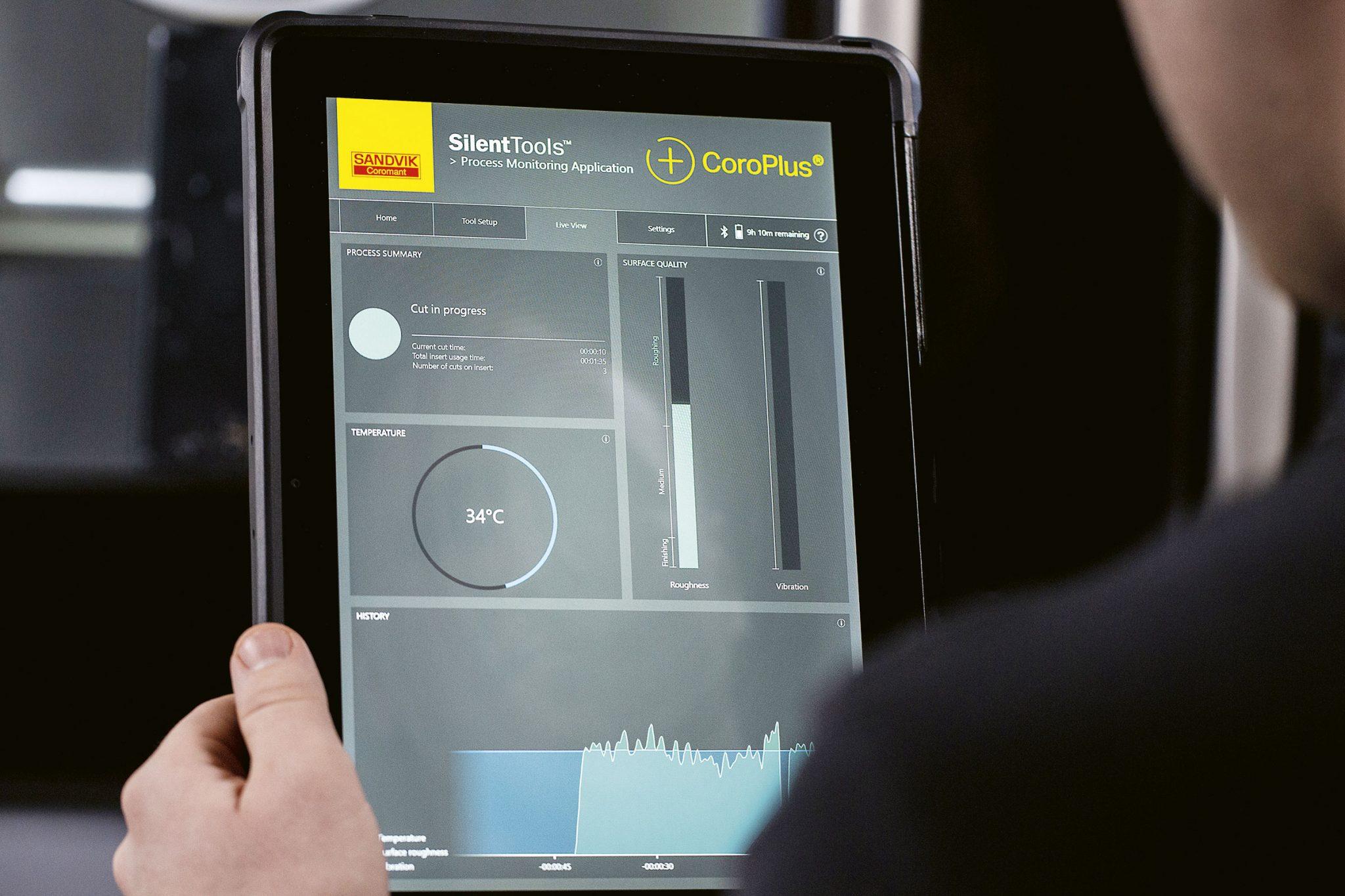 Digitalisoidut värinävaimennetut puomit Verkkoon liitettävät Silent Tools™ Plus -tuotteet vahvistavat tarjontaa  Teollisuus 4.0:n vaatimuksiin